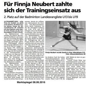 Finnja ist natürlich U17 :-)