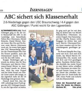 Badminton Hannover Presse 2020