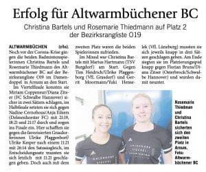 Badminton Hannover Isernhagen Hobby Altwarmbüchener BC Training Altwarmbüchen