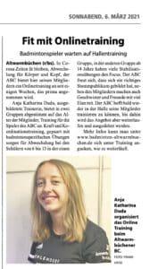 onlinetraining badminton hannover