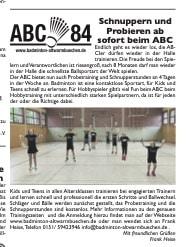 Badminton Schnupperkurs Training