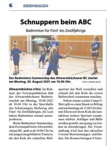 Badminton Hannover Schnuppertraining